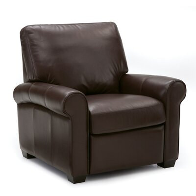 Magnum Arm Chair Upholstery: Leather/PVC Match - Tulsa II Dark Brown