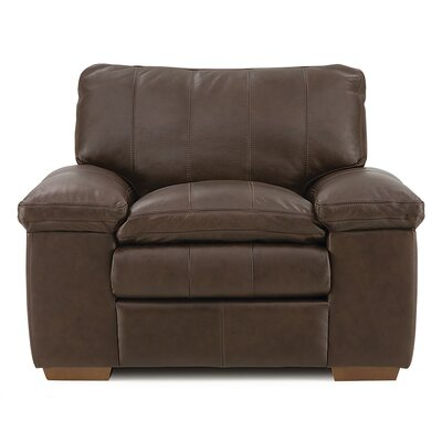 Polluck Armchair Upholstery: Leather/PVC - Tulsa II Dark Brown