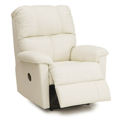 Gilmore Wall Hugger Recliner Upholstery: Leather/PVC Match - Tulsa II Bisque, Type: Manual