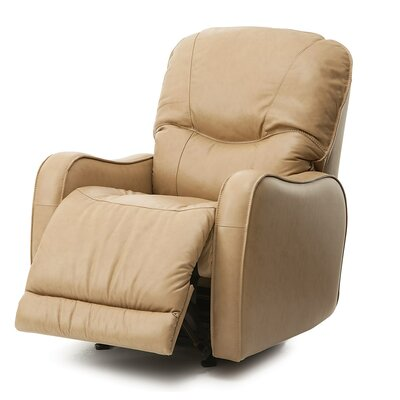 Yates Swivel Rocker Recliner Upholstery: Bonded Leather Champion Alabaster