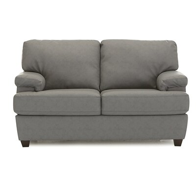 Morehouse Loveseat Upholstery: All Leather Protected  - Tulsa II Jet