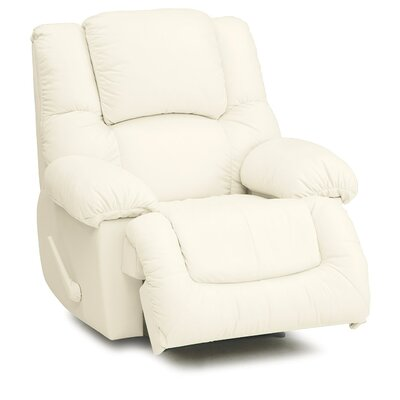 Squire Wall Hugger Recliner Upholstery: Leather/PVC Match - Tulsa II Bisque, Type: Manual