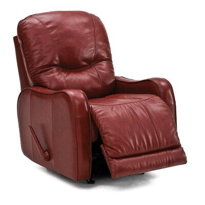 Yates Swivel Rocker Recliner Upholstery: Leather/PVC Match Tulsa II Jet