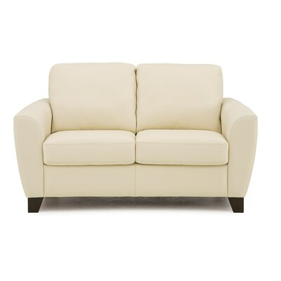 Marymount Loveseat Upholstery: All Leather Protected  - Tulsa II Chalk