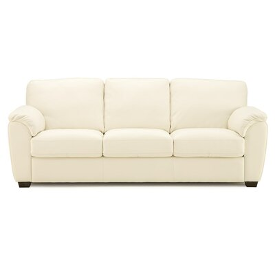 Lanza Sofa Upholstery: Leather/PVC Match - Tulsa II Bisque