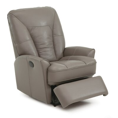 Hillsborough Wall Hugger Recliner Type: Power, Upholstery: Leather/PVC Match - Tulsa II Bisque