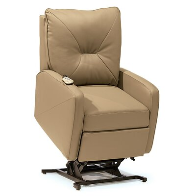Theo Lift Chair Upholstery: Leather/PVC Match - Tulsa II Dark Brown