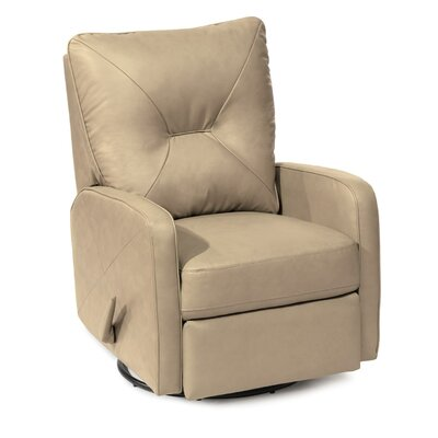 Theo Wall Hugger Recliner Type: Manual, Upholstery: Leather/PVC Match - Tulsa II Jet