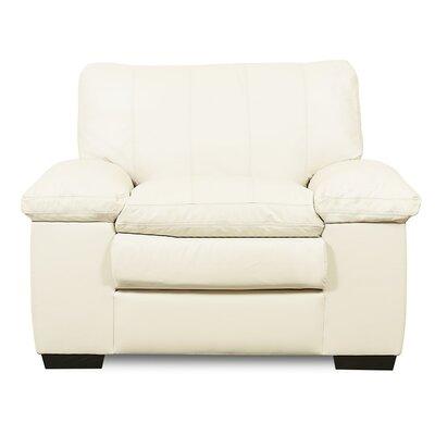 Polluck Armchair Upholstery: Leather/PVC - Tulsa II Sand