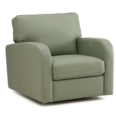 Westside Manual Recliner Upholstery: Bonded Leather - Champion Alabaster