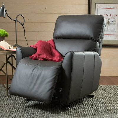 Markland Wall Hugger Recliner Upholstery: Bonded Leather - Champion Onyx, Type: Manual