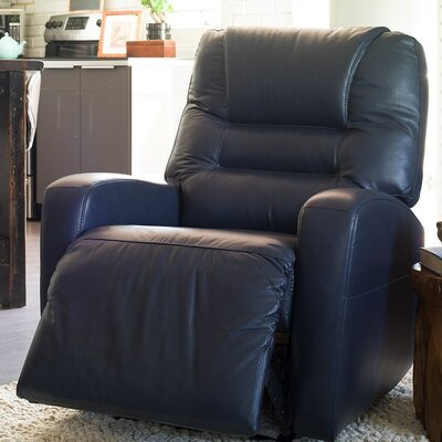 Highwood Lift Assist Recliner Upholstery: All Leather Protected - Tulsa II Jet