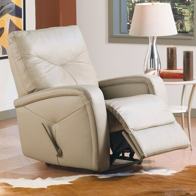 Torrington Wall Hugger Recliner Type: Power, Upholstery: Leather/PVC Match - Tulsa II Chalk