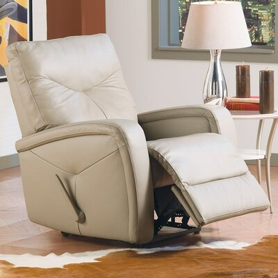 Torrington Rocker Recliner Type: Manual, Upholstery: All Leather Protected - Tulsa II Jet