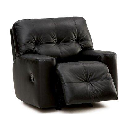 Mystique Wall Hugger Recliner Upholstery: Dark Brown
