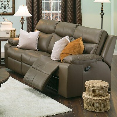 Providence Leather Reclining Sofa Upholstery: All Leather Protected - Tulsa II Stone, Type: Manual