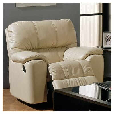 Picard Swivel Rocker Recliner Upholstery: Leather/PVC Match - Tulsa II Chalk