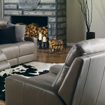 Forest Hill Wall Hugger Recliner Upholstery: Leather/PVC Match - Tulsa II Bisque, Type: Power