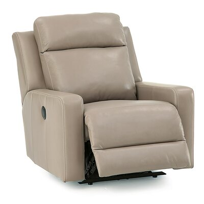 Forest Hill Wall Hugger Recliner Upholstery: Bonded Leather - Champion Khaki, Type: Power