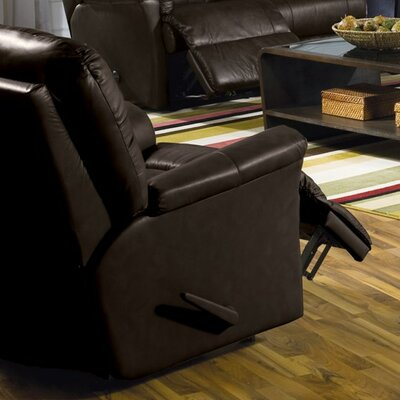 Fiesta Manual Swivel Rocker Recliner Upholstery: Leather/PVC Match - Tulsa II Jet