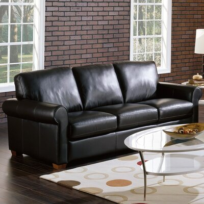 Magnum Sofa Upholstery: Bonded Leather - Champion Alabaster