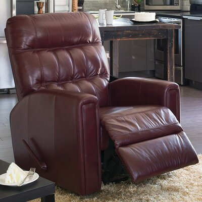 Thorncliffe Wall Hugger Recliner Upholstery: Bonded Leather - Champion Alabaster, Type: Manual