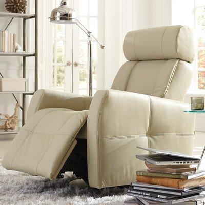 Myrtle Beach II Swivel Glider Recliner Upholstery: Leather/PVC Match - Tulsa II Bisque, Type: Manual