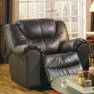 Parkville Rocker Recliner Upholstery: All Leather Protected - Tulsa II Dark Brown, Type: Power