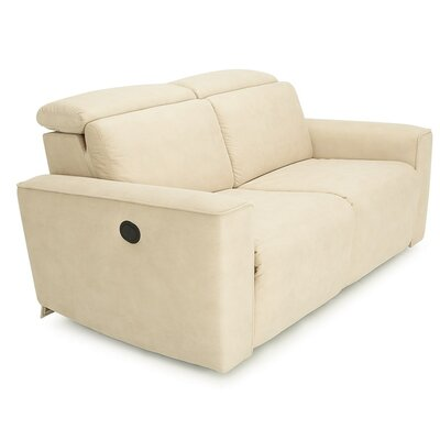 Springfield Leather Reclining Loveseat Upholstery: Bonded Leather - Champion Mink, Type: Power