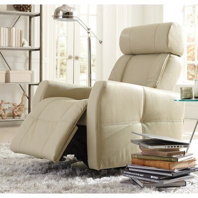 Myrtle Beach II Wall Hugger Recliner Upholstery: All Leather Protected - Tulsa II Chalk, Type: Power