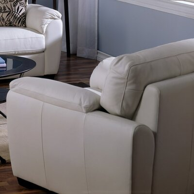 Lanza Armchair Upholstery: All Leather Protected  - Tulsa II Stone