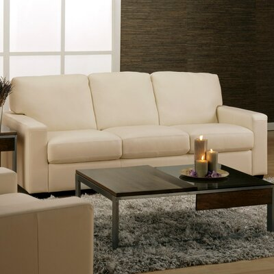 Westend Sofa Upholstery: Leather/PVC Match - Tulsa II Chalk