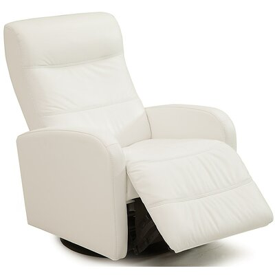 Valley Forge II Wall Hugger Recliner Upholstery: Bonded Leather - Champion Alabaster, Type: Power