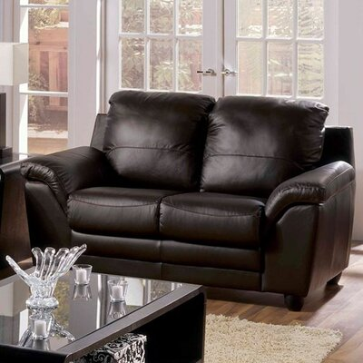 Sirus Loveseat Upholstery: Bonded Leather - Champion Granite