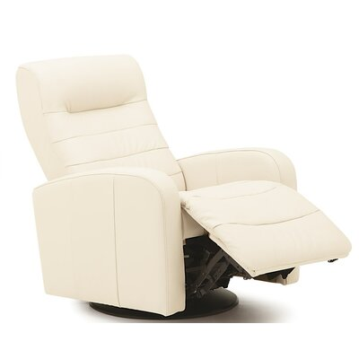 Riding Mountain II Swivel Glider Recliner Type: Power, Upholstery: All Leather Protected - Tulsa II Sand