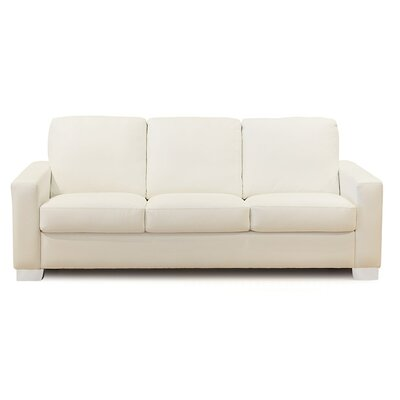 Roberto Sofa Upholstery: Bonded Leather - Champion Alabaster