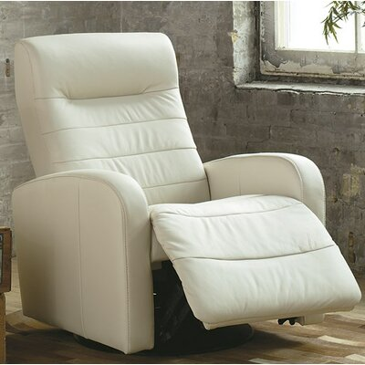 Riding Mountain II Wall Hugger Recliner Upholstery: Leather/PVC Match - Tulsa II Jet