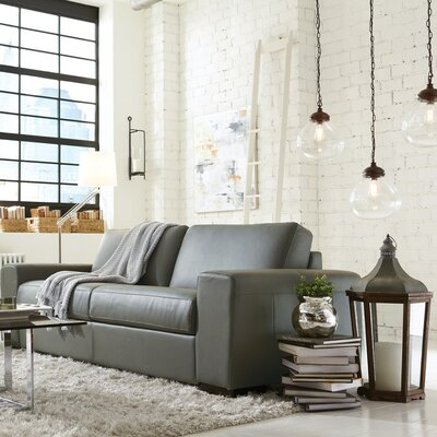 Weekender Sleeper Sofa Upholstery: Bonded Leather - Champion Alabaster, Leather Type: Bonded Leather - Champion Onyx, Size: Full