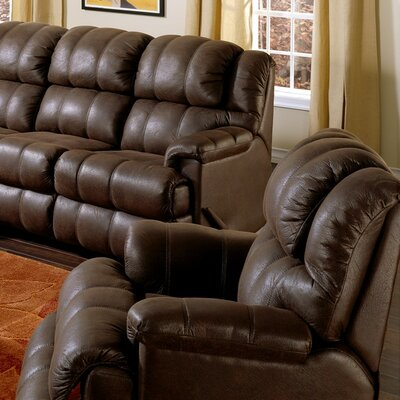 Harlow Wall Hugger Recliner Upholstery: Bonded Leather - Champion Java, Type: Power