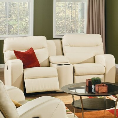 Glenlawn Leather Sofa Upholstery: Bonded Leather - Champion Granite, Type: Power
