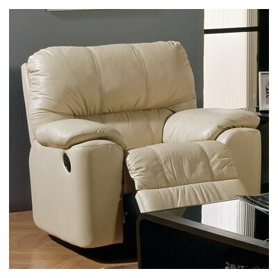 Picard Rocker Recliner Upholstery: Bonded Leather - Champion Java, Type: Manual