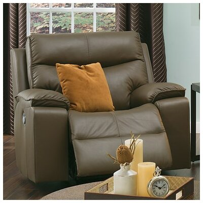 Providence Swivel Rocker Recliner Upholstery: Leather/PVC Match - Tulsa II Chalk