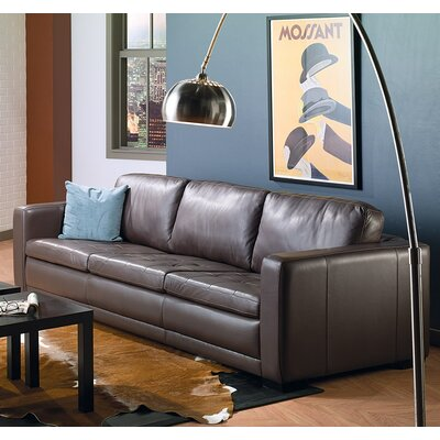 Knightsbridge Modular Sofa Upholstery: Bonded Leather - Champion Granite