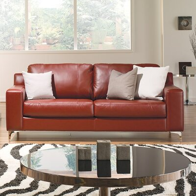 Sonora Sofa Upholstery: Leather/PVC Match - Tulsa II Dark Brown