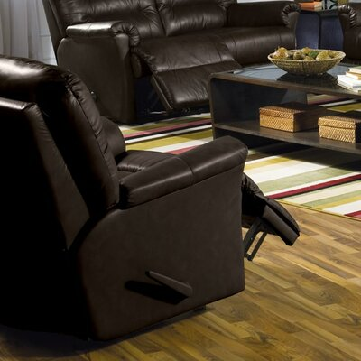 Fiesta Wall Hugger Recliner Upholstery: Bonded Leather - Champion Alabaster, Type: Manual