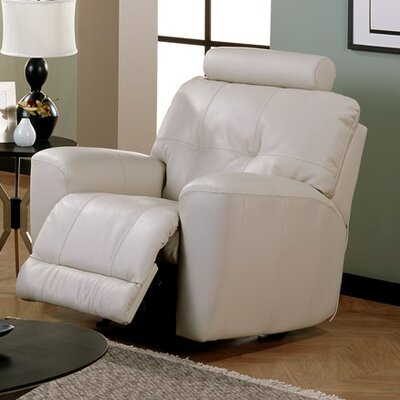 Galore Wall Hugger Recliner Upholstery: Bonded Leather - Champion Alabaster, Type: Power