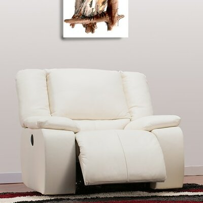 Harrow Rocker Recliner Upholstery: Leather/PVC Match - Tulsa II Dark Brown, Type: Power
