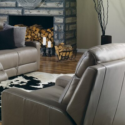 Forest Hill Swivel Rocker Recliner Upholstery: Leather/PVC Match - Tulsa II Stone, Upholstery`: Leather/PVC Match - Tulsa II Dark Brown