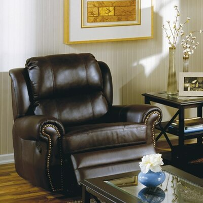 Luca Wall Hugger Recliner Type: Power, Upholstery: Leather/PVC Match - Tulsa II Dark Brown