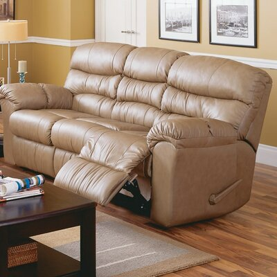 Durant Reclining Sofa Type: Power, Upholstery: Bonded Leather - Champion Granite